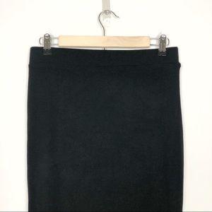 Sanctuary Skirts - Sanctuary | Black Rib Pencil Midi Skirt